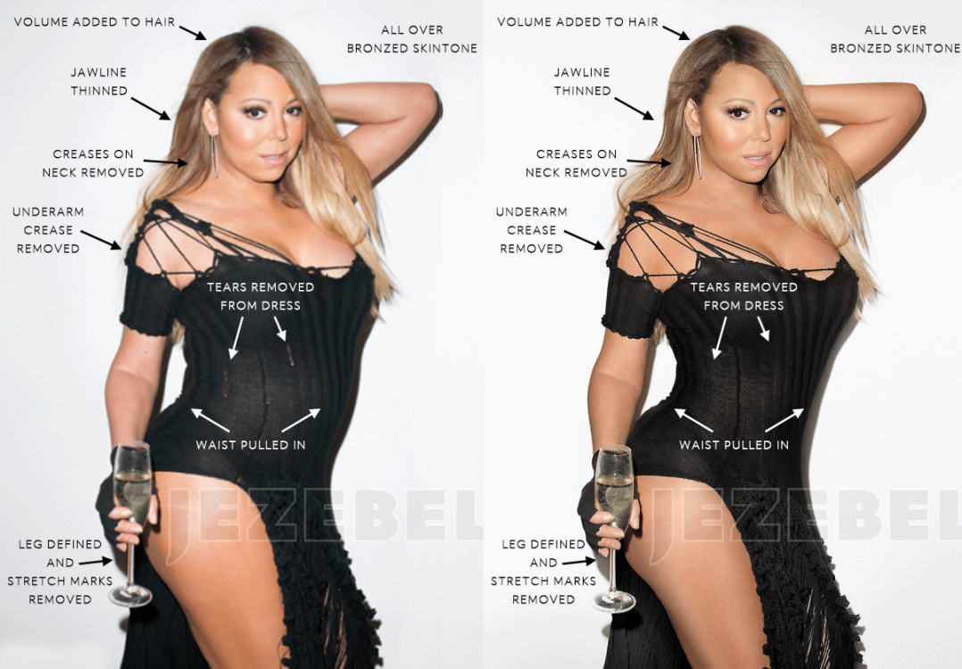 Mariah Carey «retouched»