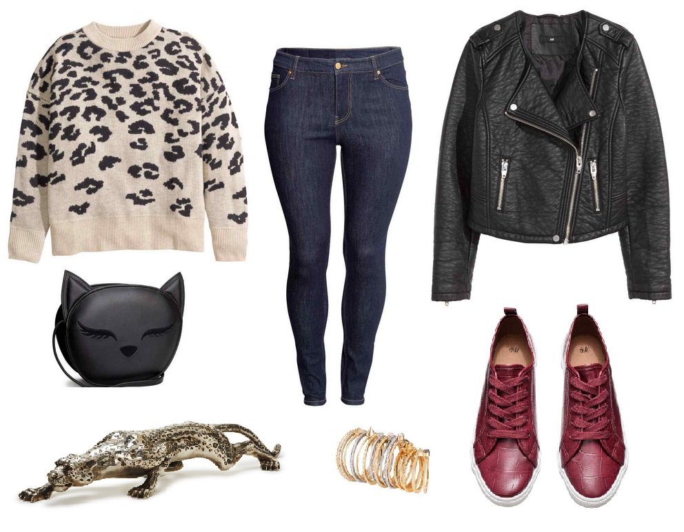Plus size leopard look