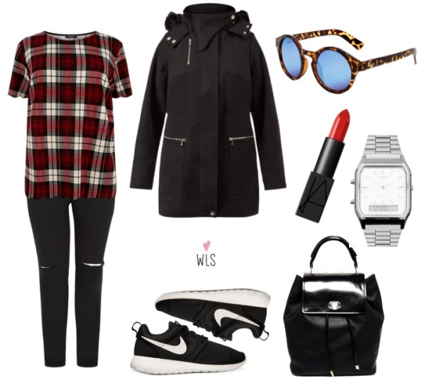 newlook plus size look tartan