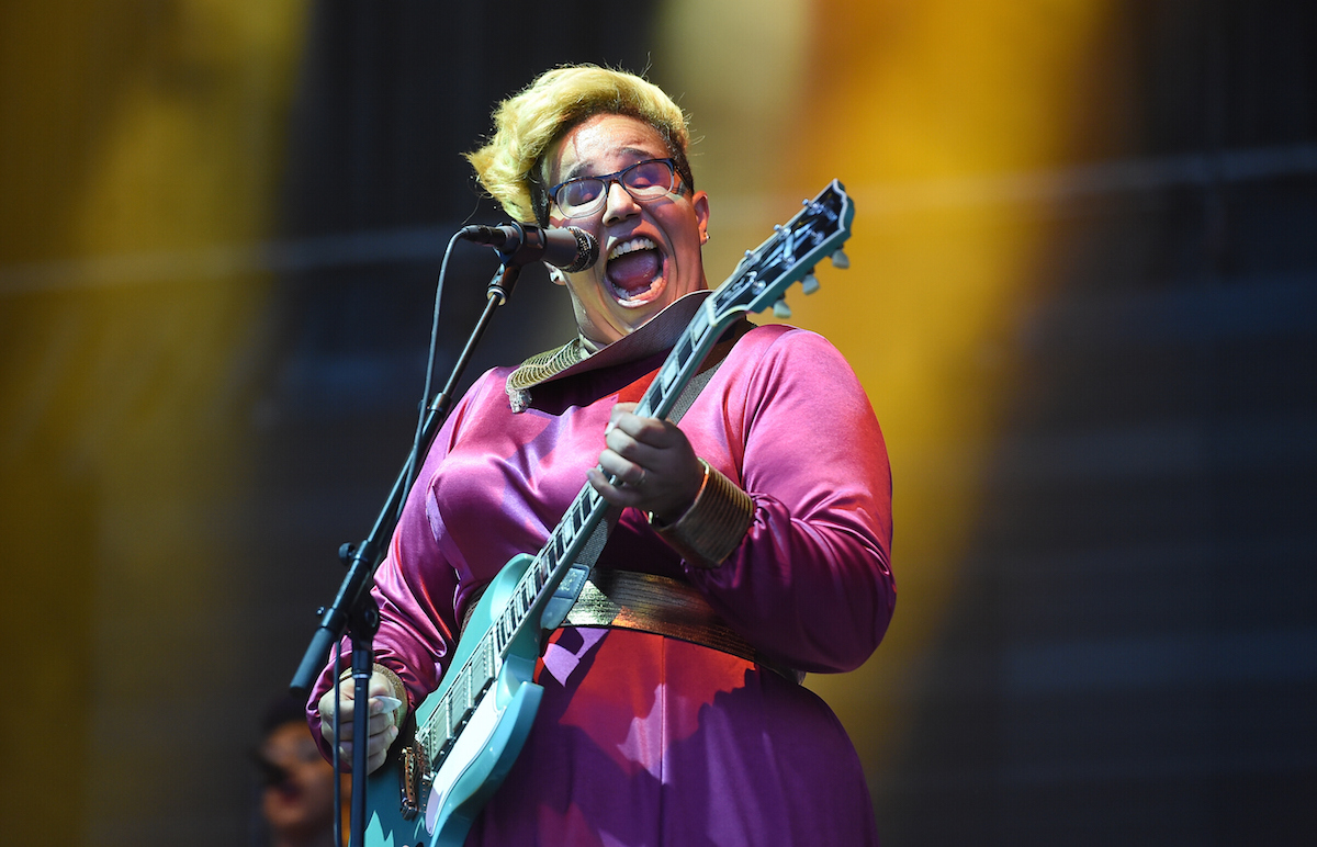 MANCHESTER, TN - JUNE 12:  Brittany Howard of Alabama Shakes performs on stage during the 2015 Bonnaroo Music & Arts Festival - Day 2 on June 12, 2015 in Manchester, Tennessee.  (Photo by Jason Merritt/Getty Images)