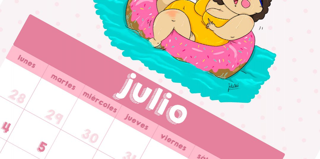 Descarga tu calendario Weloversize – Julio