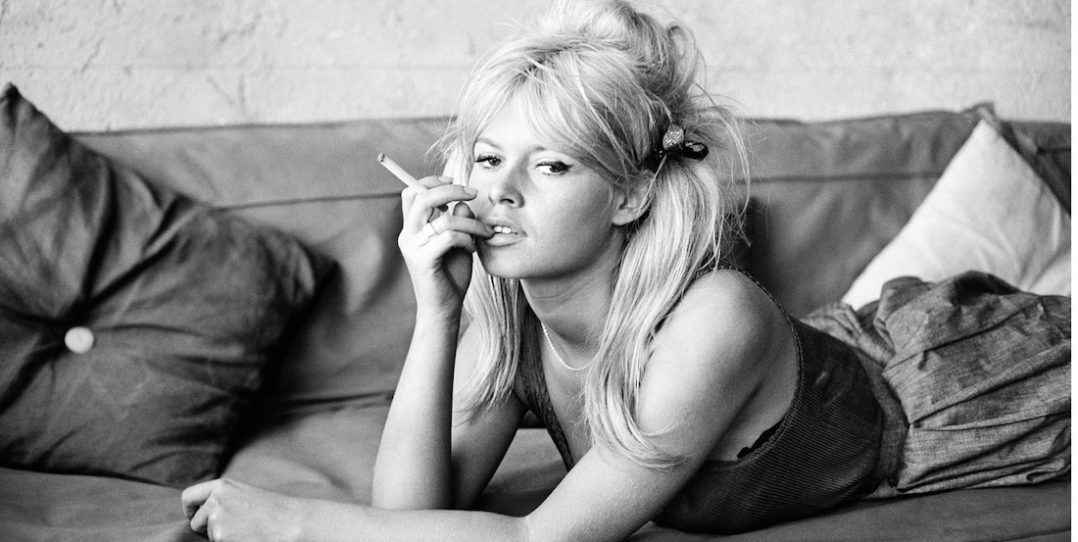 French Actress Brigitte Bardot on the set of movie Vie Privee