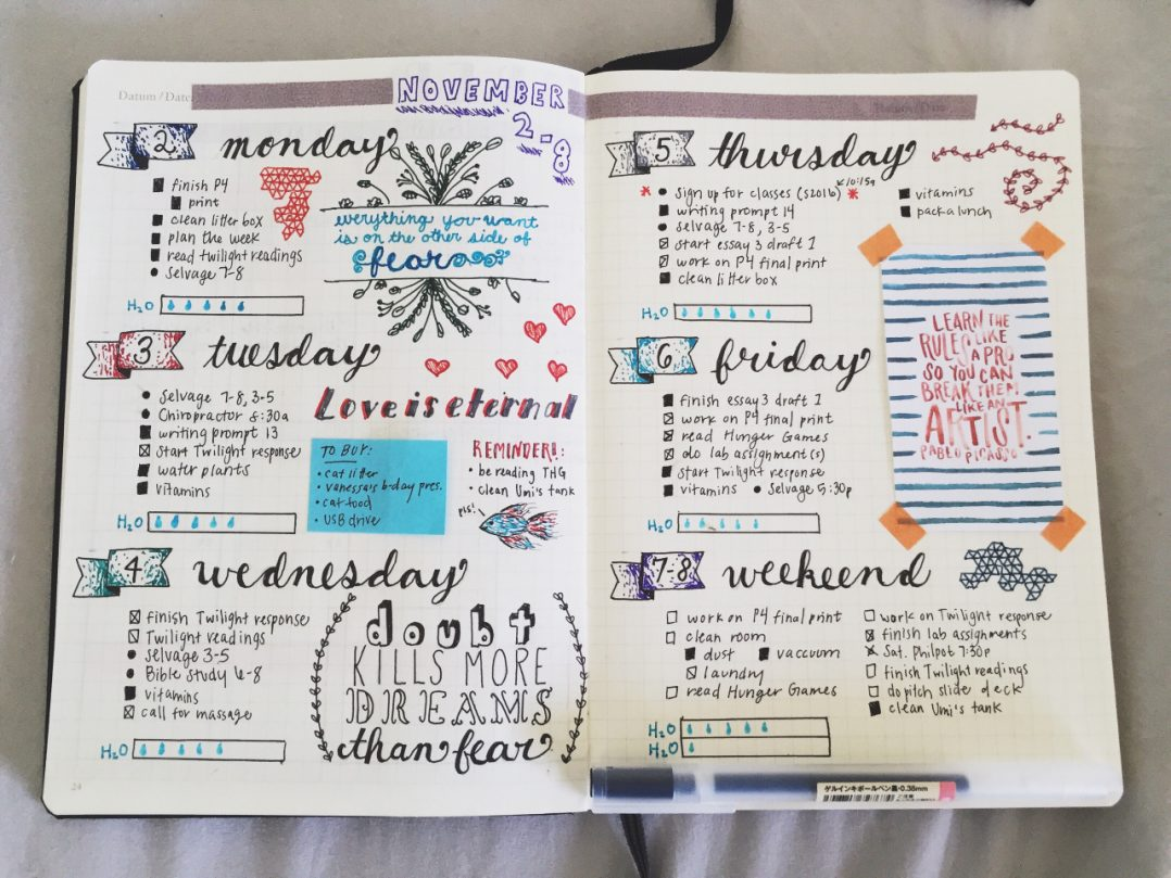 La moda de los Bullet Journal