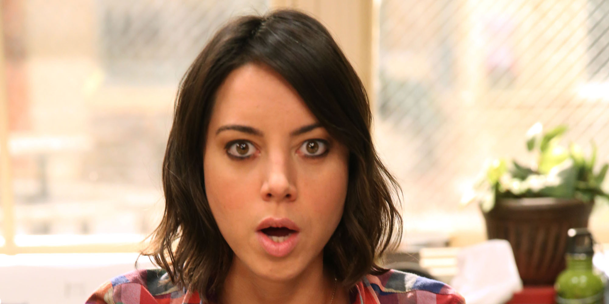 "PARKS AND RECREATION -- ""Doppelgangers"" Episode 604 -- Pictured: Aubrey Plaza as April Ludgate -- (Photo by: Chris Haston/NBC/NBCU Photo Bank via Getty Images)"