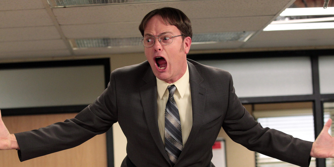 "THE OFFICE -- ""Livin' The Dream"" Episode 921 -- Pictured: Rainn Wilson as Dwight Schrute -- (Photo by: Chris Haston/NBC/NBCU Photo Bank)"