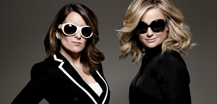 GOLDEN GLOBE AWARDS -- 71st Annual Golden Globe Awards -- Pictured: (l-r) Tina Fey, Host; Amy Poehler, Host -- (Photo by: Art Streiber/NBC)