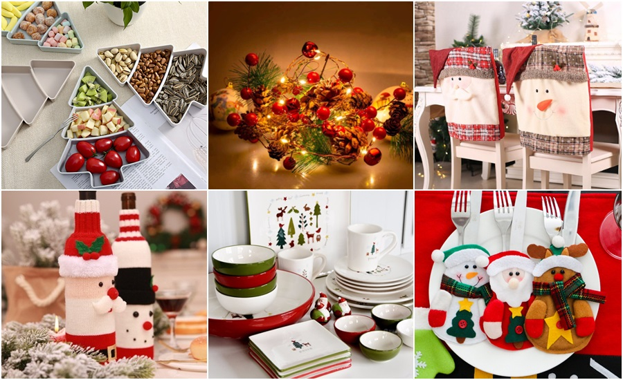 Decoración original low cost de Aliexpress para tus cenas navideñas
